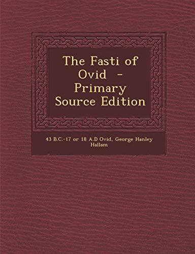 9781289849467: The Fasti of Ovid