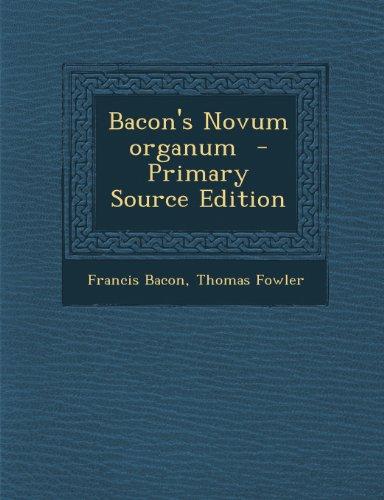 9781289868345: Bacon's Novum Organum