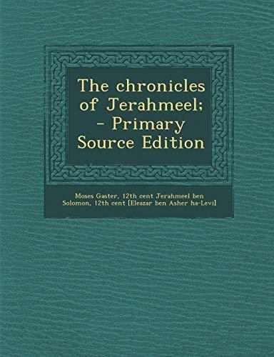 9781289878313: Chronicles of Jerahmeel;