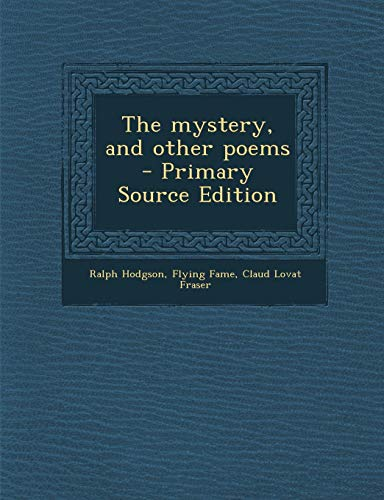 9781289896683: Mystery, and Other Poems