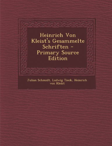 9781289916046: Heinrich Von Kleist's Gesammelte Schriften (German Edition)