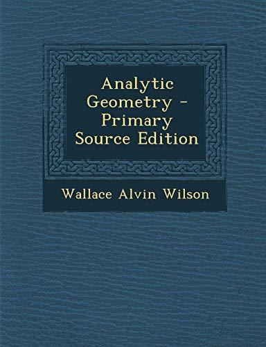 9781289962944: Analytic Geometry