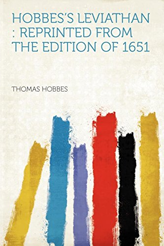 9781290138949: Hobbes's Leviathan: Reprinted From the Edition of 1651