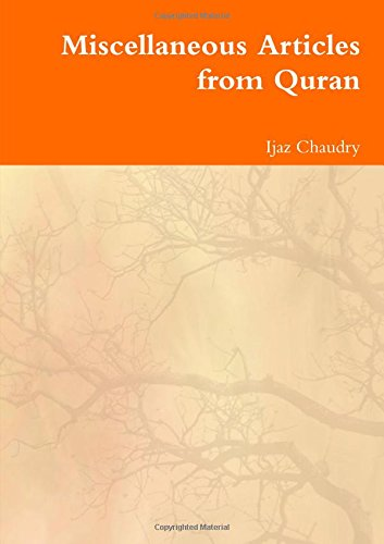 9781291500677: Miscellaneous Articles from Quran