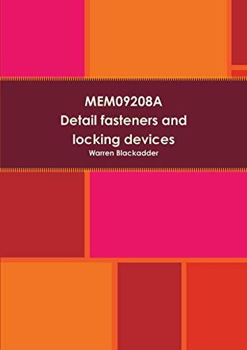 9781291580075: MEM09208A Detail fasteners and locking devices in mechanical drawings