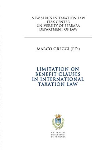 9781291993660: Limitation on Benefit Clauses in International Taxation Law