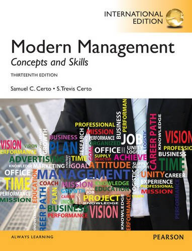 Modern Management, International Edition: Certo, S. Trevis