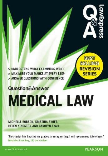 9781292002897: Law Express Question and Answer: Medical Law