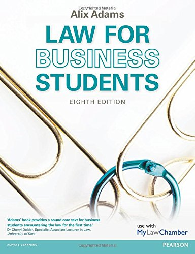 Law for Business Students (Paperback): Alix Adams