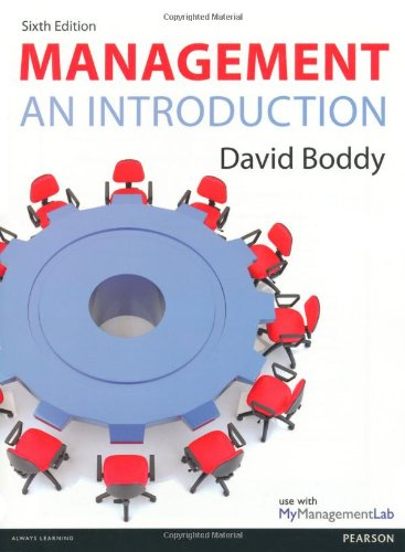 Management: An Introduction: Boddy, David