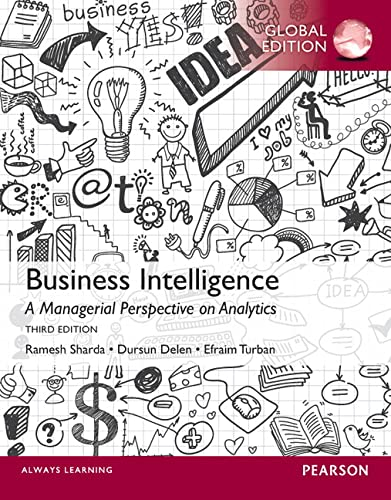 9781292004877: Business Intelligence: A Managerial Perspective on Analytics, Global Edition