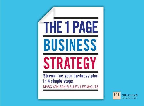 9781292009629: The One Page Business Strategy: Streamline Your Business Plan in Four Simple Steps
