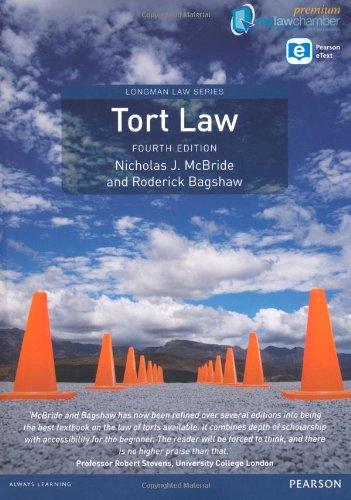 9781292010755: Tort Law (Longman Law Series)