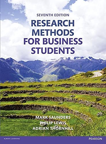Research Methods for Business Students: Saunders, M.N.K. and