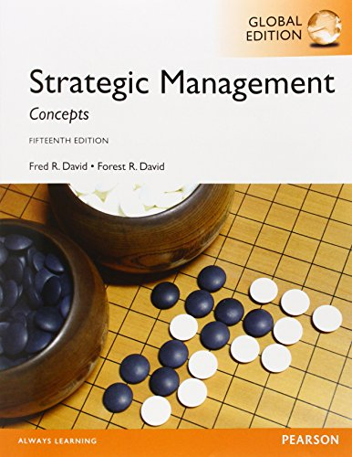 strategic management by fred r david Fred's vita forest's vita the david & david strategic management textbook is being the strategy club strives to supplement the david & david strategic.