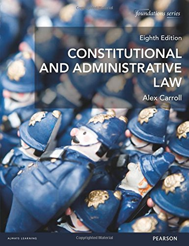 9781292016979: Constitutional & Administrative Law (Foundation Studies in Law Series)