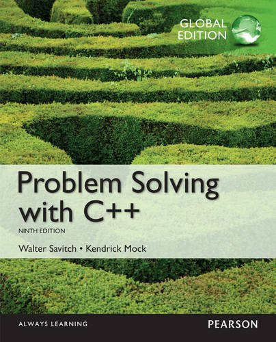 9781292018249: Problem Solving with C++