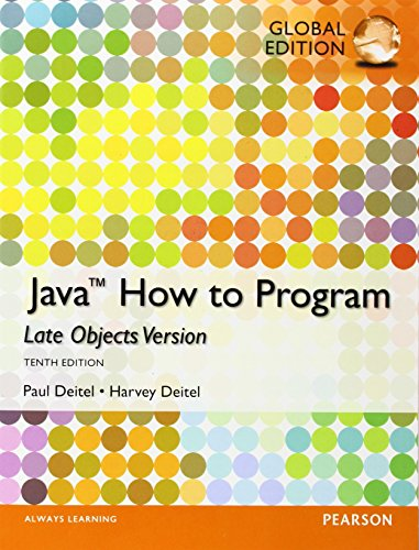 9781292019369: Java: How to Program (Late Objects), Global Edition