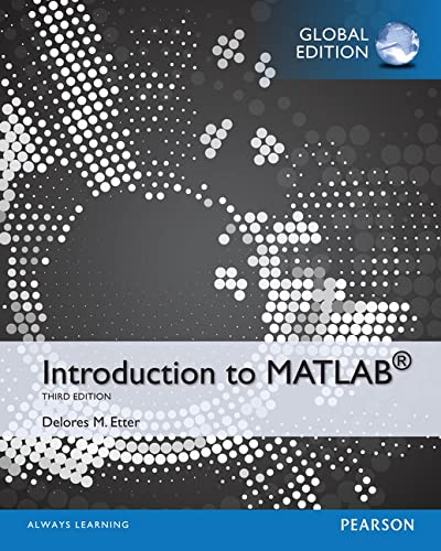 9781292019390: Introduction to MATLAB, Global Edition