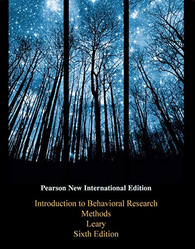 9781292020273: Introduction to Behavioral Research Methods: Pearson New International Edition