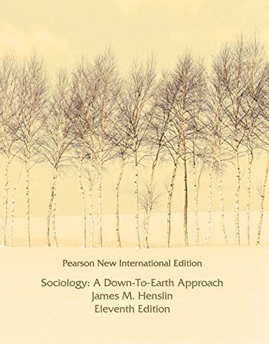 9781292020327: Sociology: Pearson New International Edition: A Down-to-Earth Approach