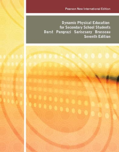 9781292020525: Dynamic Physical Education for Secondary School Students: Pearson New International Edition