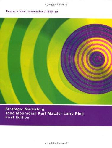 9781292020563: Strategic Marketing: Pearson New International Edition