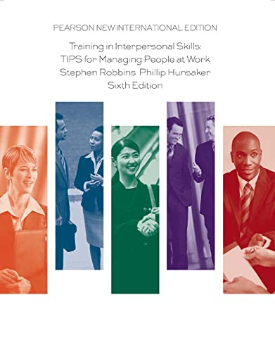 9781292020693: Training in Interpersonal Skills: TIPS for Managing People at Work