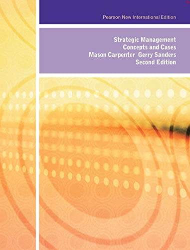 9781292020778: Strategic Management: Pearson New International Edition: Concepts and Cases