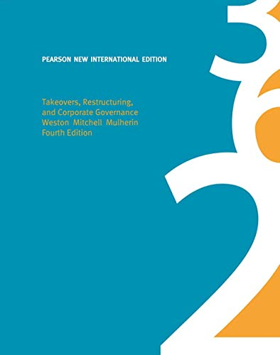 9781292020860: Takeovers, Restructuring, and Corporate Governance: Pearson New International Edition