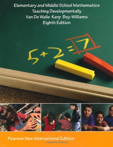 9781292021072: Elementary and Middle School Mathematics: Teaching Developmentally