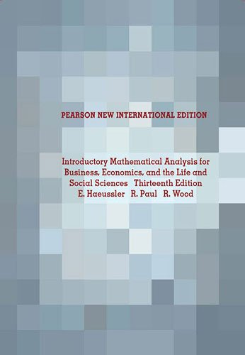 9781292021140: Introductory Mathematical Analysis for Business, Economics, and the Life and Social Sciences