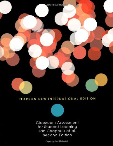 9781292021201: Classroom Assessment for Student Learning: Doing it Right - Using it Well