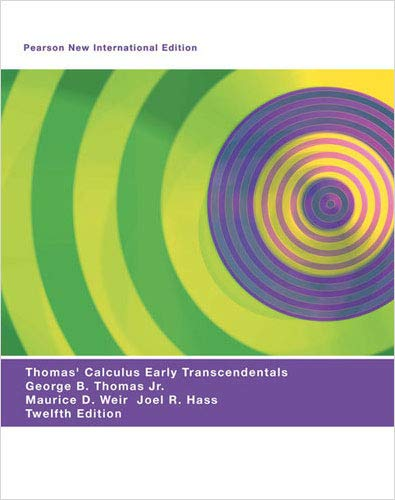 9781292021232: Thomas' Calculus Early Transcendentals: Pearson New International Edition