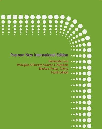 9781292021300: Paramedic Care: Principles & Practice, Volume 4, Medicine