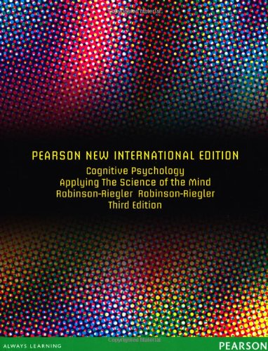 9781292021409: Cognitive Psychology: Applying the Science of the Mind