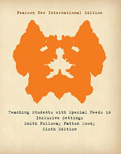 9781292021515: Teaching Students with Special Needs in Inclusive Settings