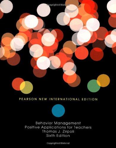9781292021553: Behavior Management: Positive Applications for Teachers