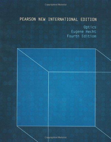 9781292021577: Optics: Pearson New International Edition