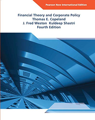 9781292021584: Financial Theory and Corporate Policy