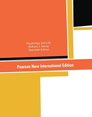 9781292021621: Psychology and Life Pearson New International Edition