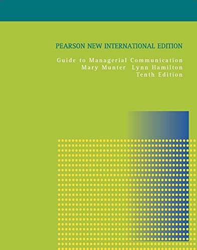 9781292021751: Guide to Managerial Communication: Pearson New International Edition