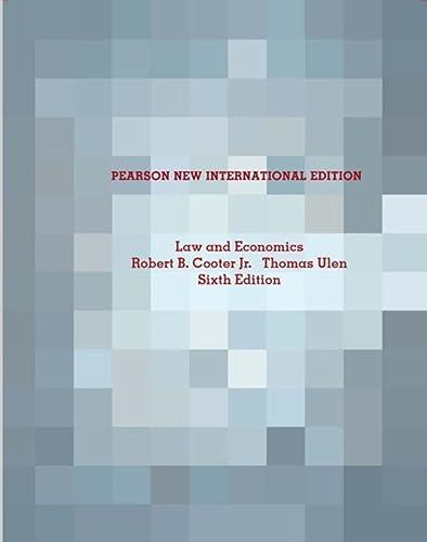 9781292021843: Law and Economics Pearson New International Edition
