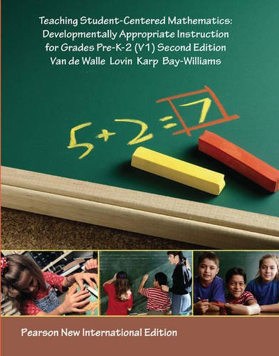 9781292022055: Teaching Student-centered Mathematics: Developmentally Appropriate Instruction for Grades Pre K-2 (Volume I)