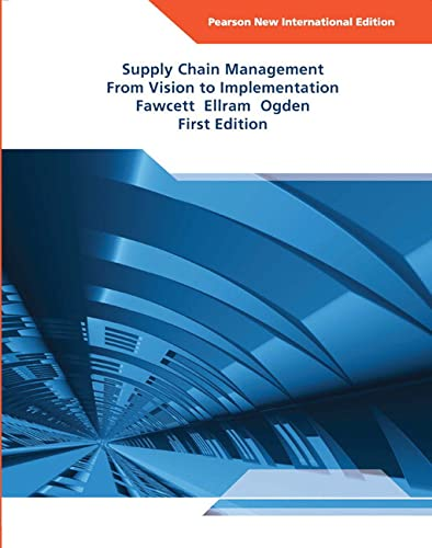9781292022192: Supply Chain Management: From Vision to Implementation