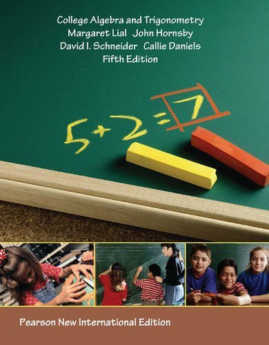 9781292022215: College Algebra and Trigonometry