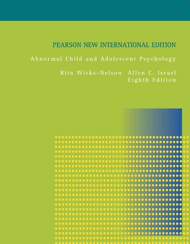 9781292022222: Abnormal Child and Adolescent Psychology: International Edition 8ed