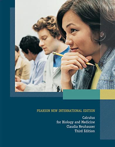 9781292022260: Calculus For Biology and Medicine: Pearson New International Edition