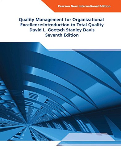 9781292022338: Quality Management for Organizational Excellence Pearson New International Edition: Introduction to Total Quality