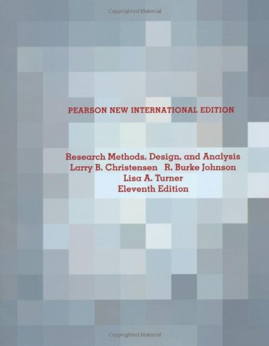 9781292022345: Research Methods, Design, and Analysis: Pearson New International Edition